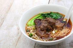 台湾牛肉汤面 免版税库存照片