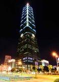 台湾的台北101夜 图库摄影