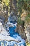 台湾的美丽的岩石小河 免版税库存照片
