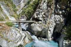 台湾的美丽的岩石小河 免版税库存图片