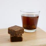 台湾红糖姜茶立方体 免版税库存照片