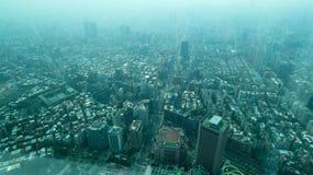 台湾都市风景台北101观测所甲板 库存照片