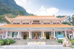 台湾-2016年1月18日:在太鲁阁国家公园的Xiangde寺庙 一个著名风景在花莲,台湾 图库摄影