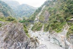 台湾-2016年1月18日:太鲁阁国家公园 一个著名风景我 图库摄影