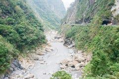 台湾-2016年1月18日:太鲁阁国家公园 一个著名风景我 库存照片