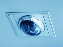360台照相机在屋顶的安全cctv 库存图片