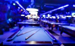 台球游戏室-被弄脏的构成Defocused背景  免版税库存图片
