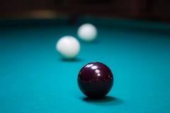 台球球:从灯的反射 库存图片