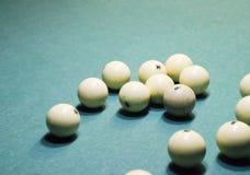 台球,台球台 在台球台上的球 库存照片