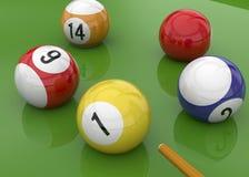 台球- 3D 免版税图库摄影