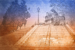 台阶例证 免版税库存照片