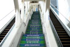 台阶向昂坪香港 免版税库存图片