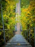 台阶在一美好的秋天天 免版税图库摄影