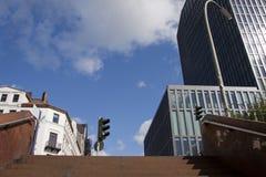 台阶在城市 免版税库存照片