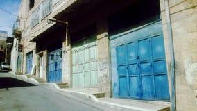 台阶在拜特Jala老镇 免版税库存图片