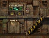 台阶在控制室 库存图片