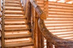 台阶在木制框架的议院里 库存照片