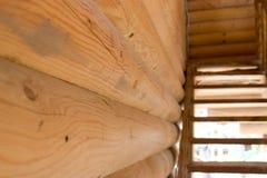 台阶在木制框架的议院里 库存图片