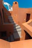 台阶在海岛上的一个房子里 免版税库存照片