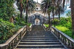 台阶在老城镇 库存图片