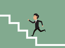 台阶成功 向量例证