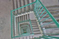 台阶摘要在大厦的 库存照片