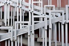 台阶栏杆(扶手栏杆) 库存照片