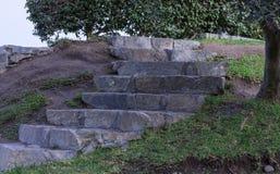 台阶由口气和水泥制成 库存图片