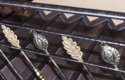 台阶的伪造的元素以金和古铜色板料的形式 库存图片