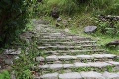 台阶石头 免版税库存照片