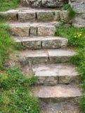 台阶石头 库存照片
