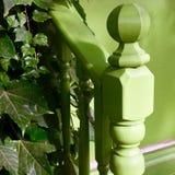 台阶舷梯在绿色口气的 库存图片