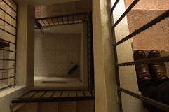 台阶从未停止逐步的正方形 图库摄影