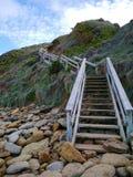 台阶/步1月Juc海滩 库存照片
