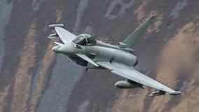 台风战斗机喷气机 库存照片