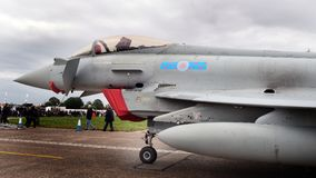 台风战斗机,现代快速的喷气机空中优势战斗机 免版税库存图片