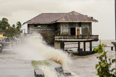 台风海盐的命中菲律宾 库存图片