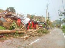 台风约兰达海盐2013年 库存图片