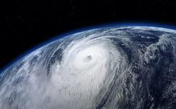 台风,卫星视图 库存照片