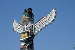 史丹利公园标识杆,史丹利公园,温哥华,加拿大 免版税库存照片