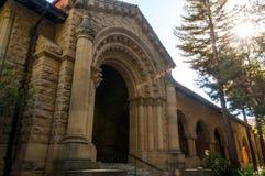 史丹福大学校园在帕洛阿尔托,加利福尼亚 库存照片