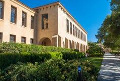 史丹福大学校园在帕洛阿尔托,加利福尼亚 库存图片