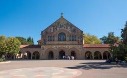 史丹福大学校园在帕洛阿尔托,加利福尼亚 免版税库存图片