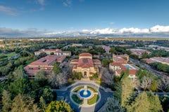史丹福大学校园-帕洛阿尔托,加利福尼亚,美国鸟瞰图  免版税库存照片