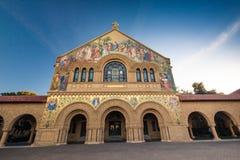 史丹福大学的纪念教会 库存图片