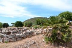 史前村庄Palmavera,撒丁岛 免版税库存图片