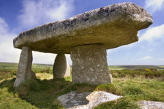 史前石头- Cornwall -英国 库存照片