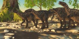 史前Iguanodon恐龙 免版税库存图片