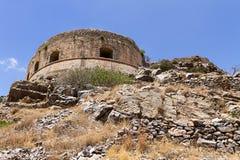 史宾纳隆加岛堡垒 免版税库存图片