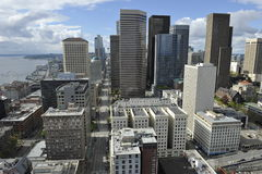 从史密斯塔,美国的西雅图地平线 免版税库存图片